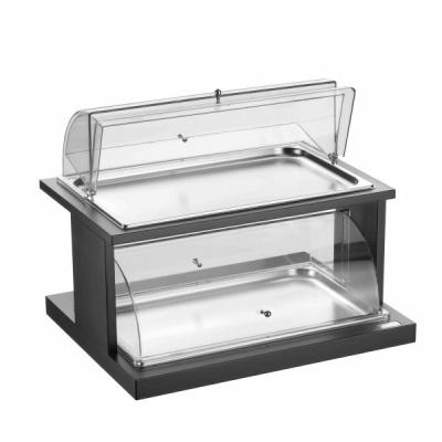 Alzata a 2 piani refrigerata nera con doppia cupola 46x59x46h for Piani a pianta doppia con seminterrato