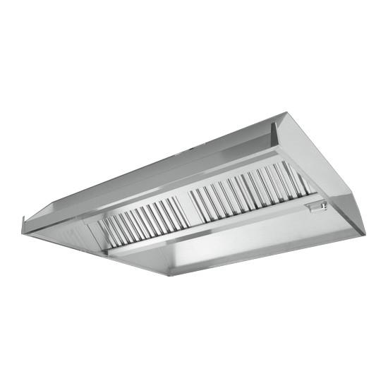 Cappa centrale senza motore in acciaio inox prof 2200mm for Cappa acciaio