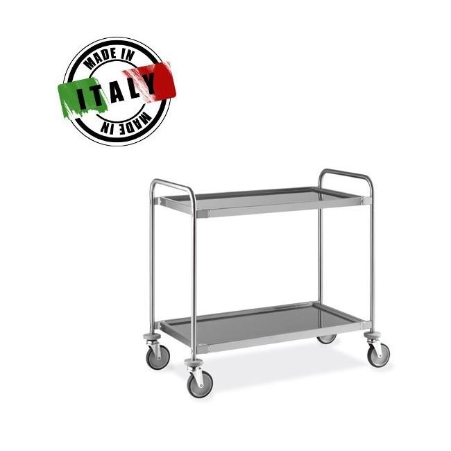 Carrello di servizio professionale con ruote inox for Carrello cucina acciaio