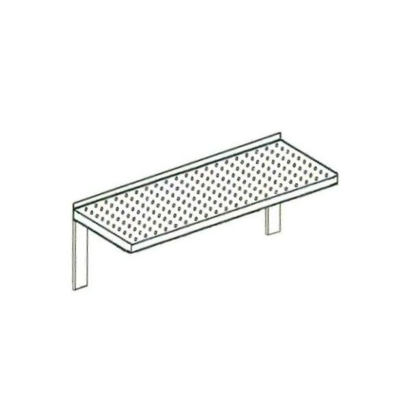 Finest mensola forata in acciaio inox con saldati sulla for Ikea mensole acciaio