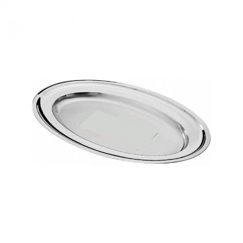 Vassoio ovale da portata in acciaio inox - Vassoio da portata ...